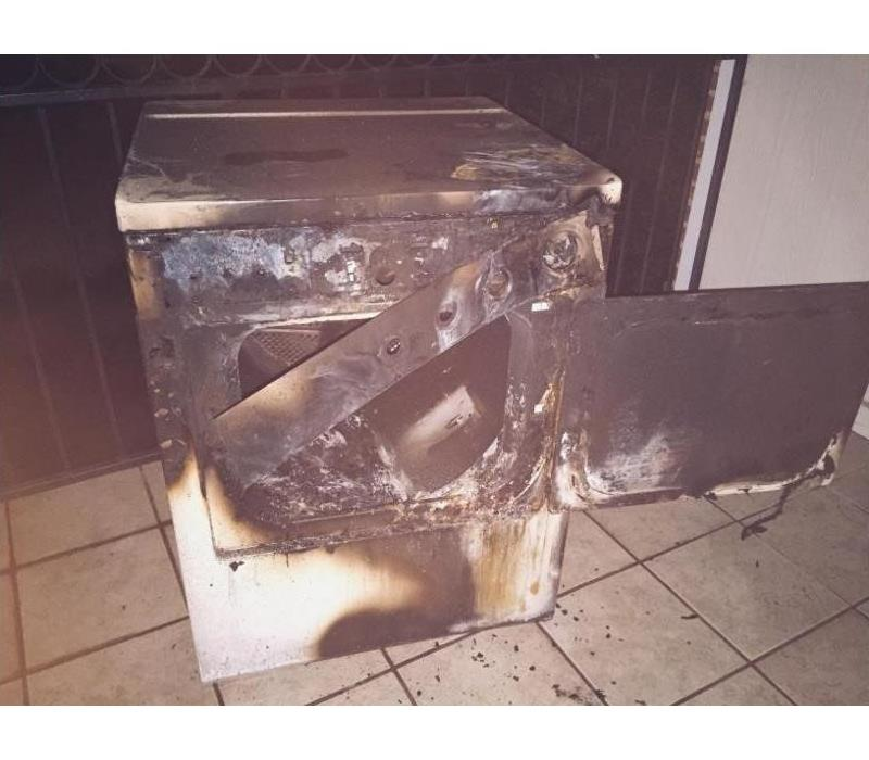 Blocked dryer vent - Fire